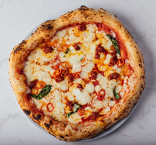 Load image into Gallery viewer, Fuego - San Marzano tomato, fior di latte, spicy N'duja, red chilli, fresh basil, olive oil