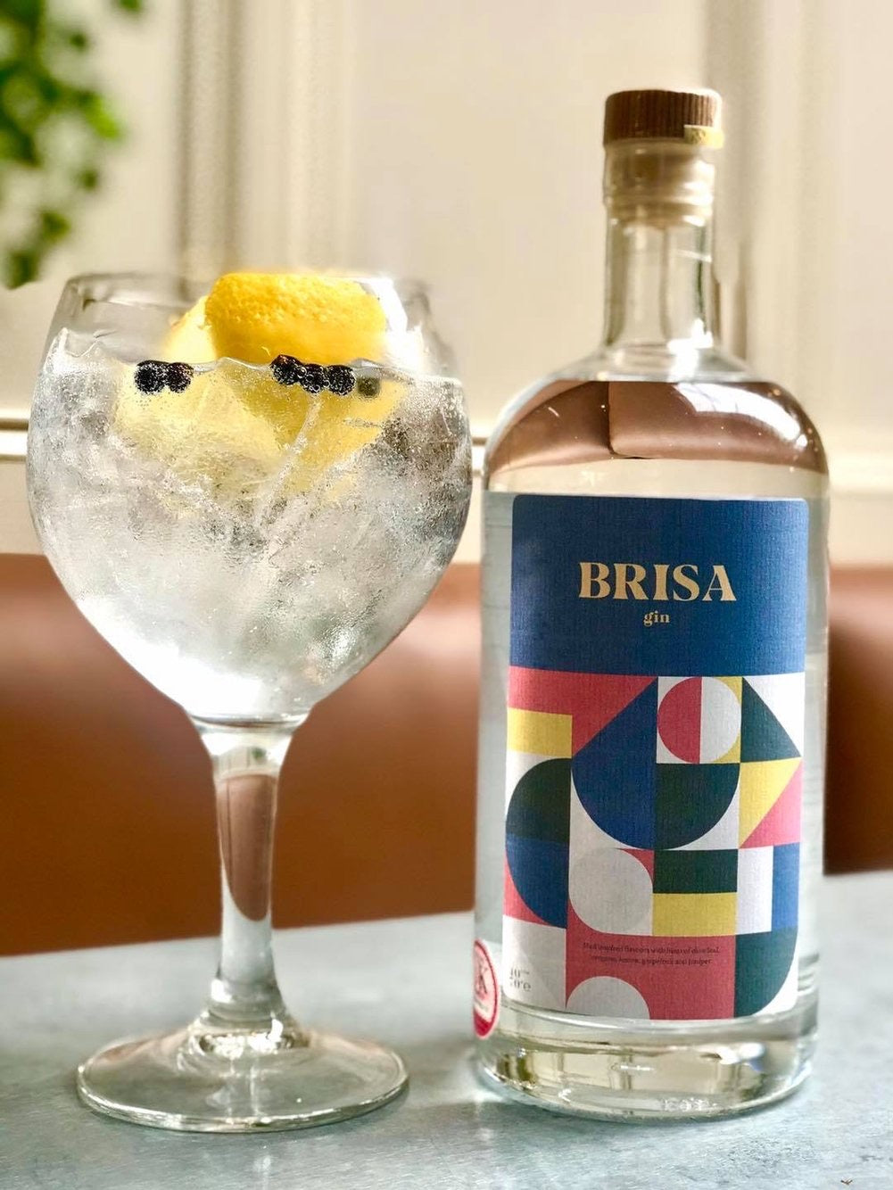 Gin - Brisa Gin - Med inspired flavours with hints of olive leaf, oregano, lemon, grapefruit & juniper