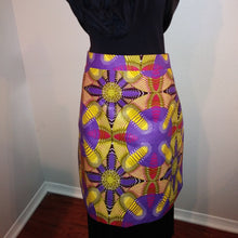 Load image into Gallery viewer, Terre-Neuve African Print Half Bistro Apron with 2 Pockets