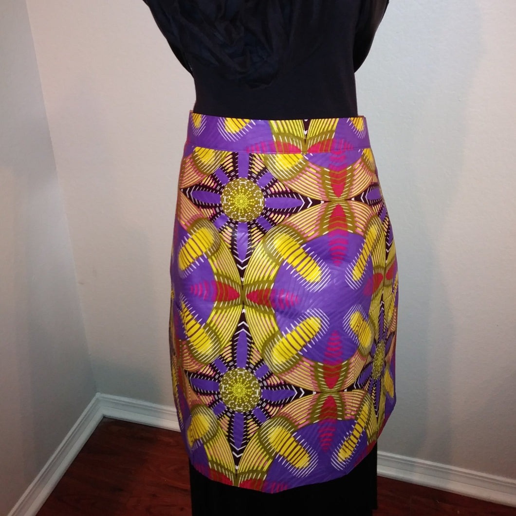 Terre-Neuve African Print Half Bistro Apron with 2 Pockets