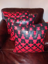 "Load image into Gallery viewer, Terrier-Rouge 24"" X 24"" African Design Throw Pillow"