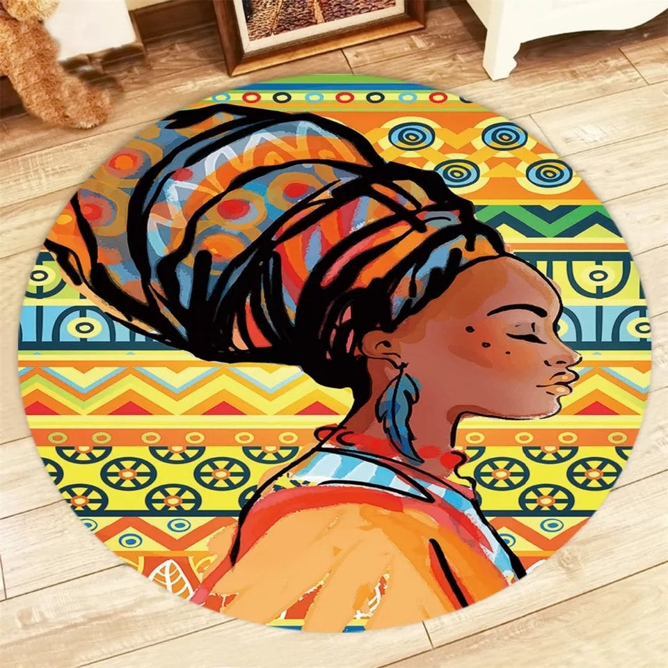Lakay Cultural Round Rug - Little Princess