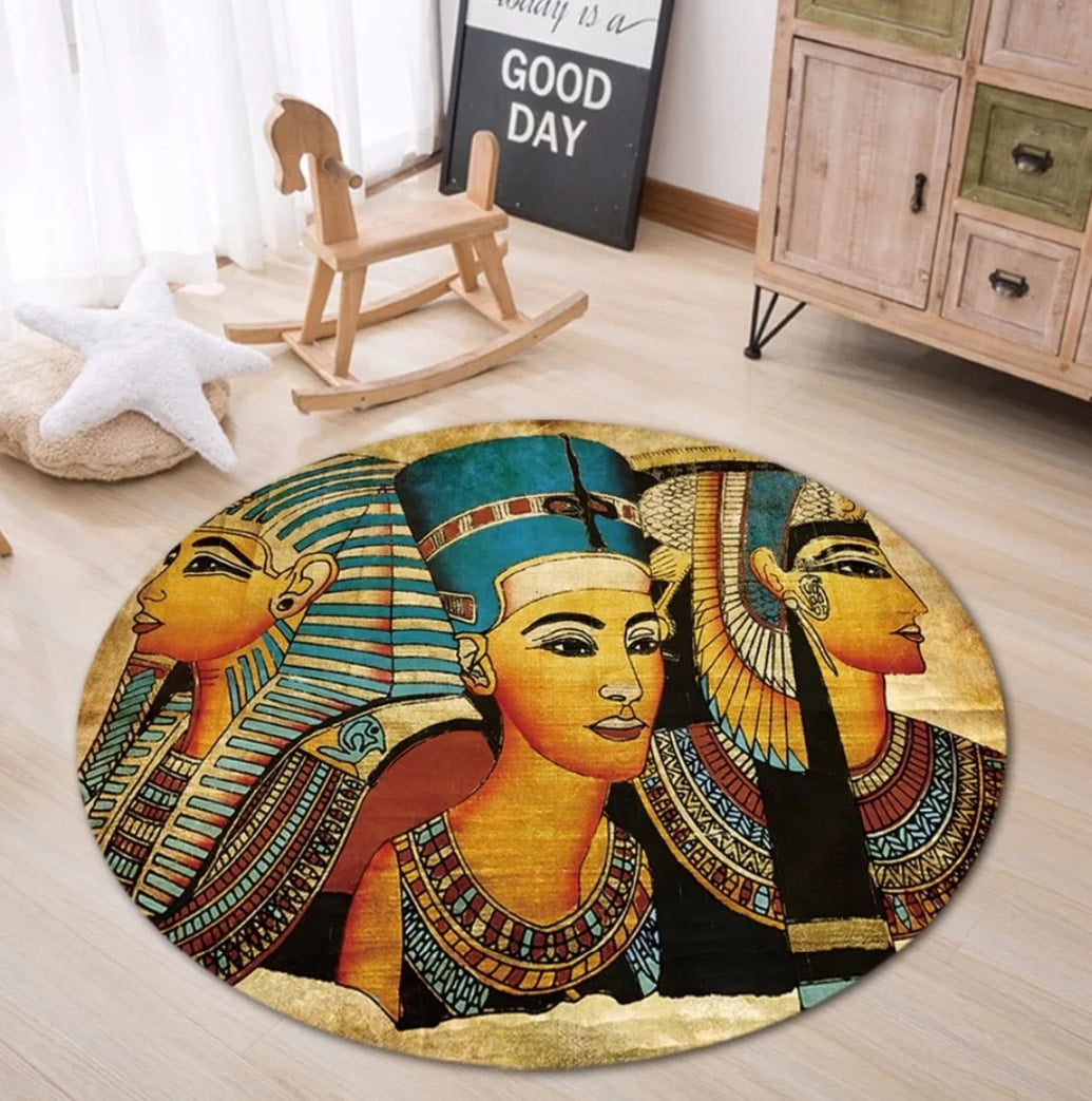 Lakay Cultural Round Rug - Egyptian