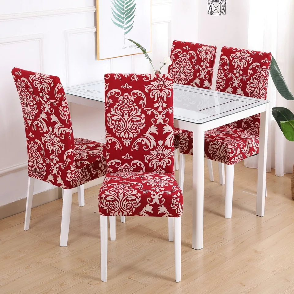 Les Cayes Spandex Dining Room Chair Covers (4)