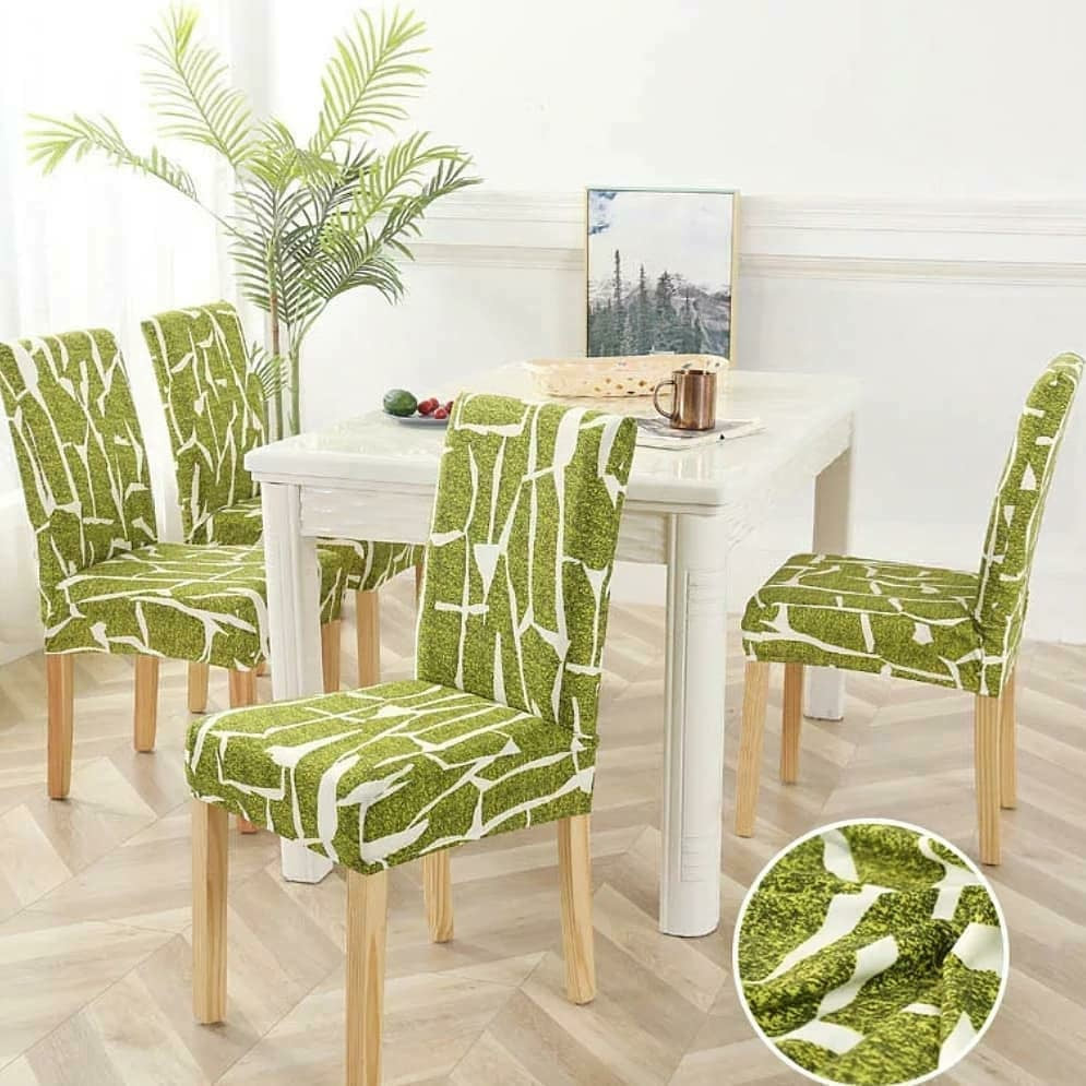 Thomazeau Spandex Dining Room Chair Covers (4)