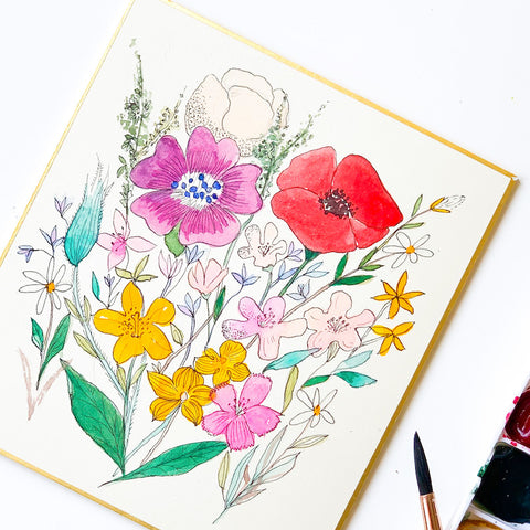 Vintage Floral Watercolour (watercolour)