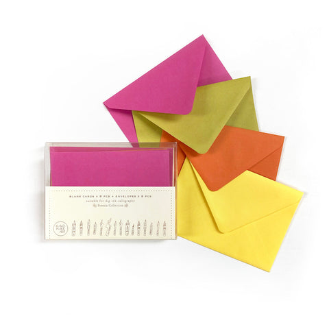 BUY 2 GET 1 - Freesia Collection Blank Card & Envelope Set