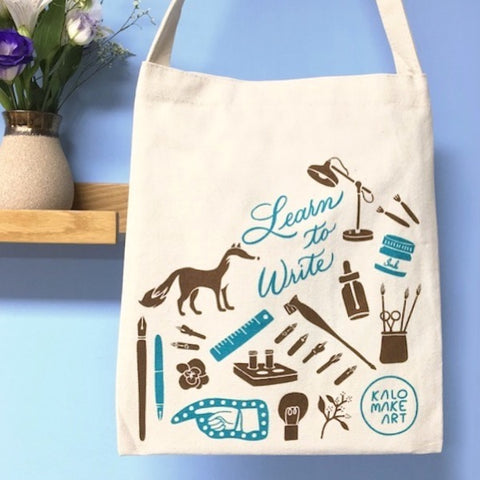 Calligraphy Tote Bags