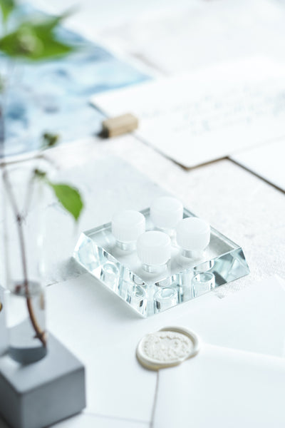 Glacier Crystal Inkwell Holder