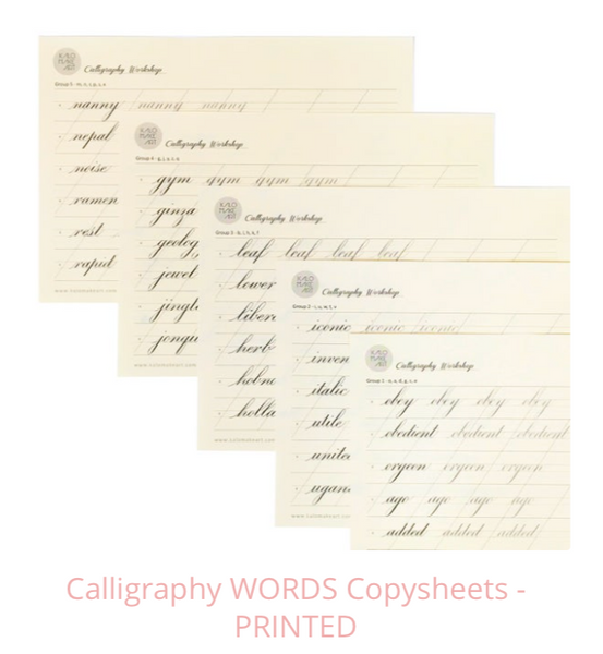 BUNDLE OFFER - Calligraphy Copysheets - PRINTED