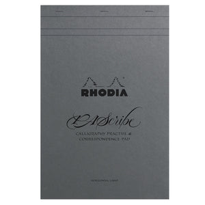 Rhodia PAScribe Calligraphy Practise and Correspondence Pad Grey