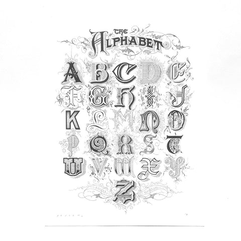 The Alphabet Print by Skyler Chubak