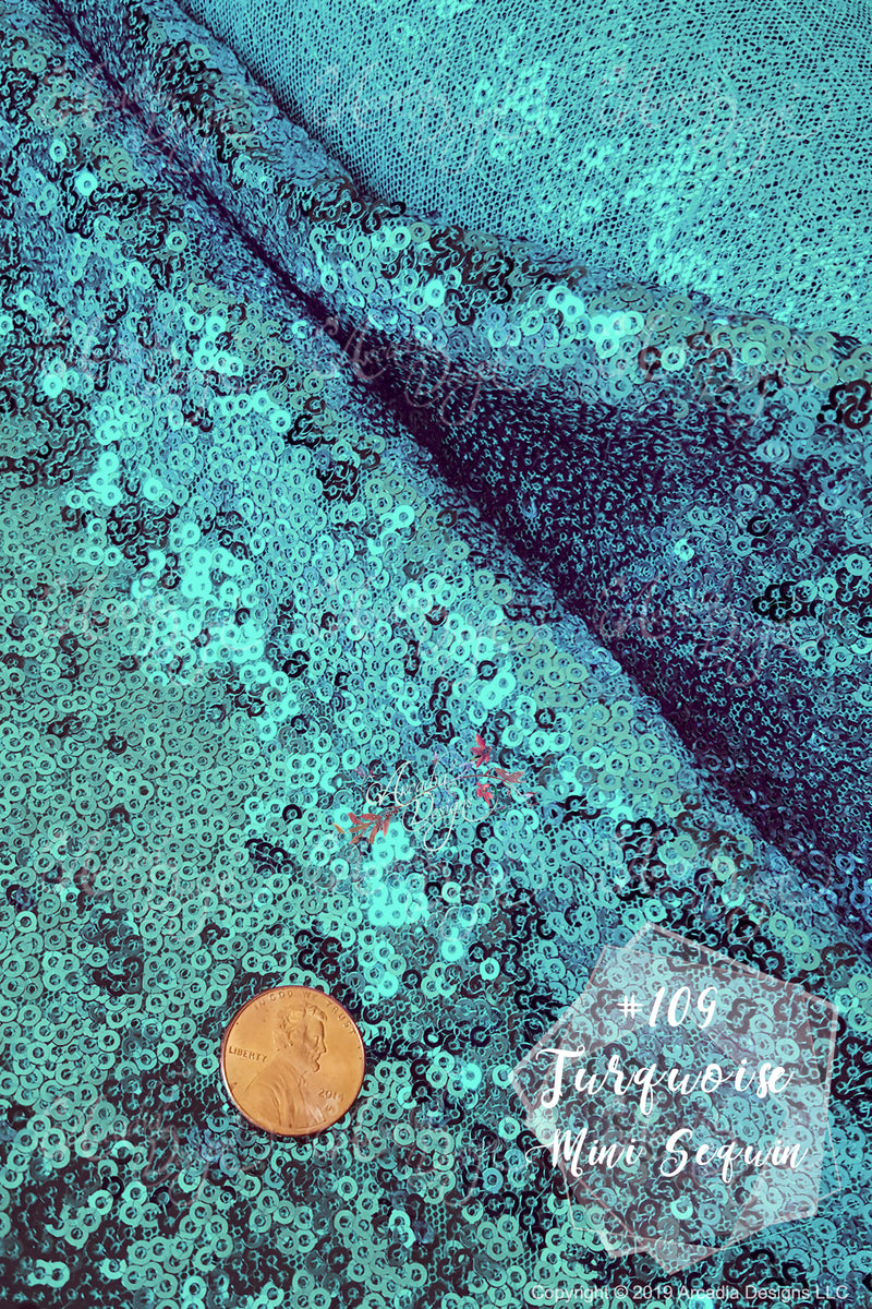 Sparkling Turquoise Sequin Table Runner