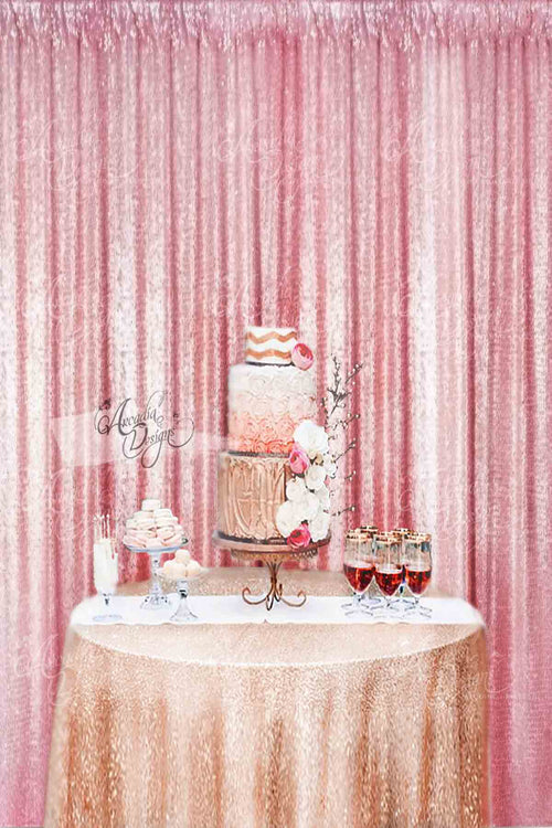 Baby Pink Sequin Backdrop