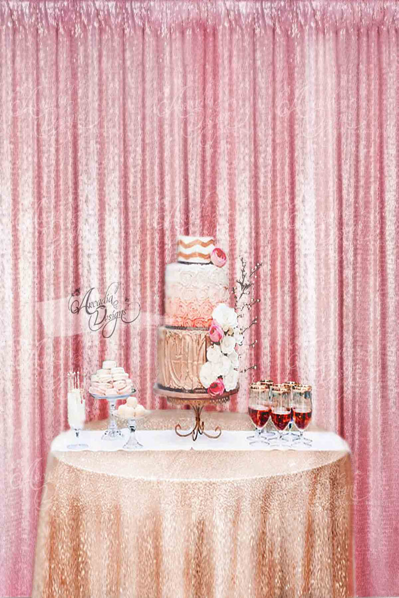 Arcadia Designs Baby Pink Sequin Backdrop