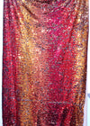red and gold Multi Color Reversible Sequin Fabric Arcadia Designs