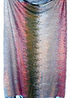 Olive Green Silver white pink Multi Color Reversible Sequin Fabric Arcadia Designs