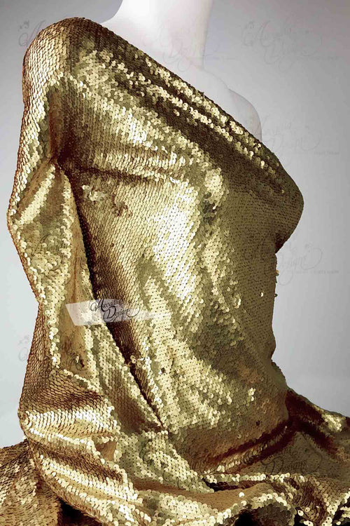 Bronze Light Gold Scale Mermaid Sequin Fabric