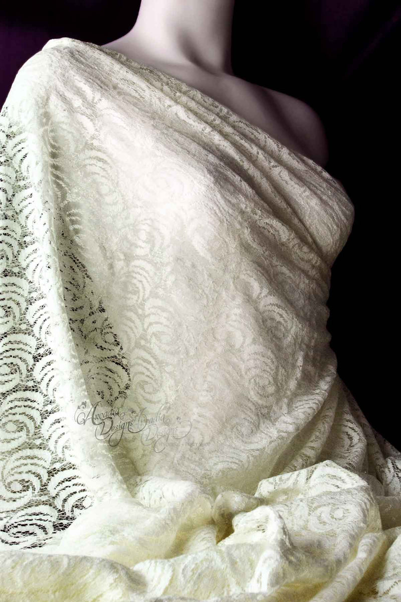 Arcadia Designs Shimmer Ivory Rosette Lace