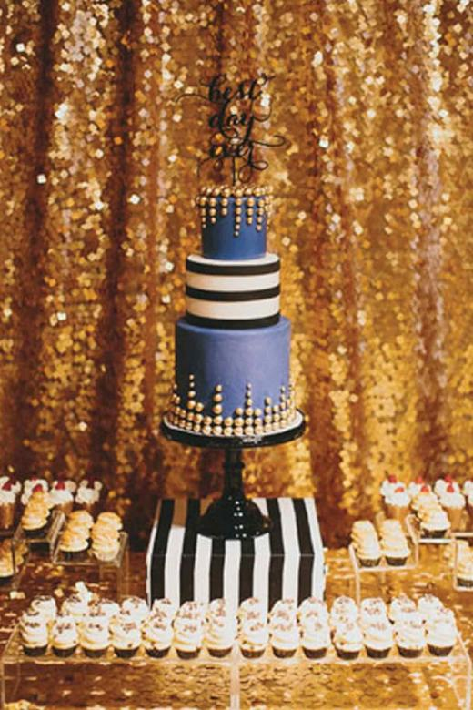 Arcadia Designs Bright Gold Sparkly Sequin Backdrop