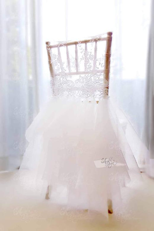 Ballerina Tutu Chiavari Chair Cover