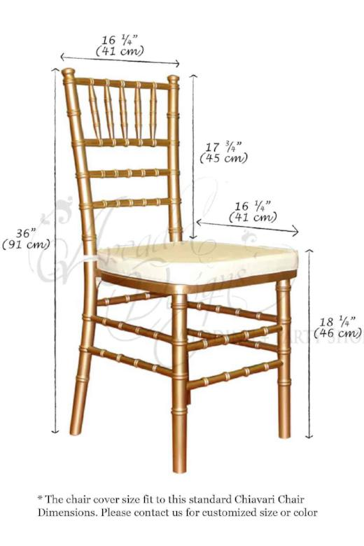 Arcadia Designs Wedding decoration Gold Bridal Chiavari Chair