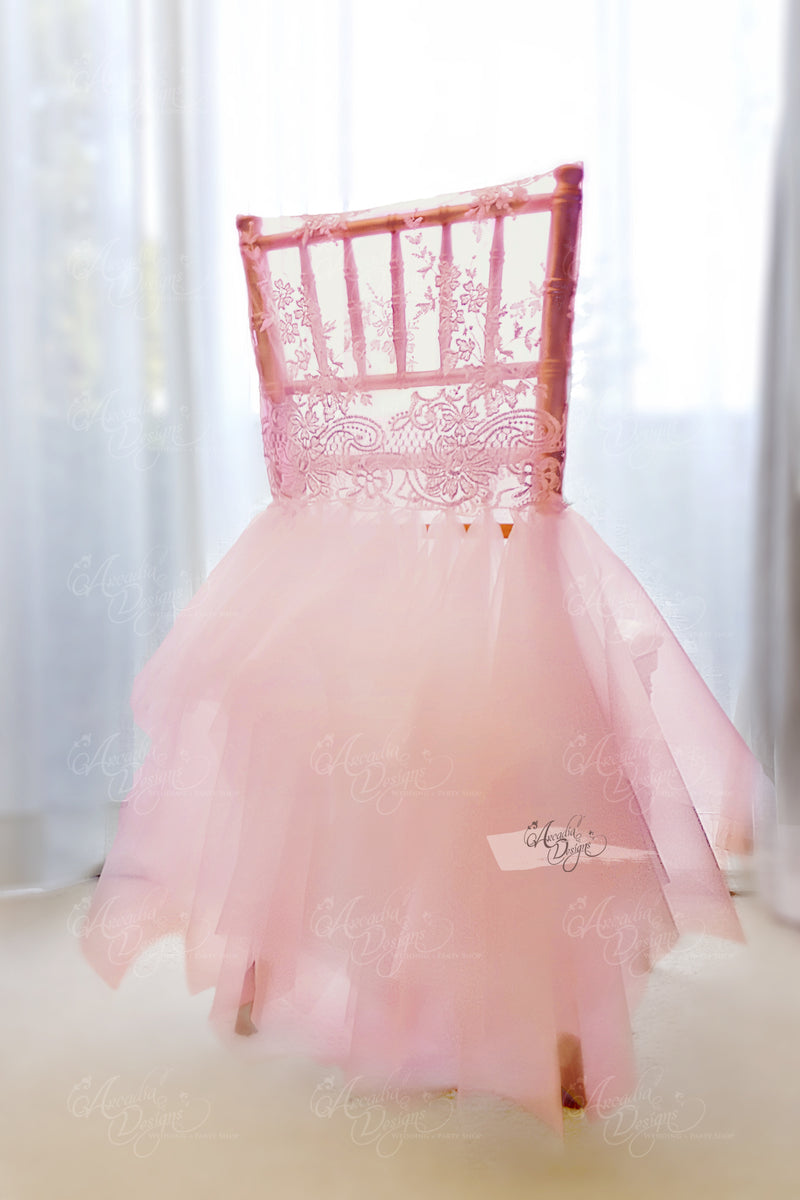 Pink Ballerina Chiavari Chair Cover