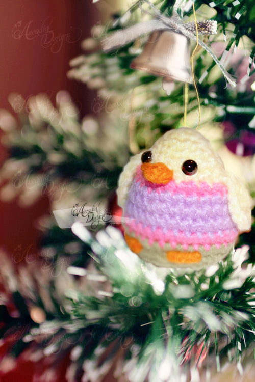 Amigurumi Chick Ornament