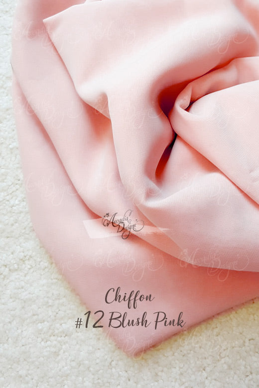 Silk Blush Pink Chiffon Table Runner