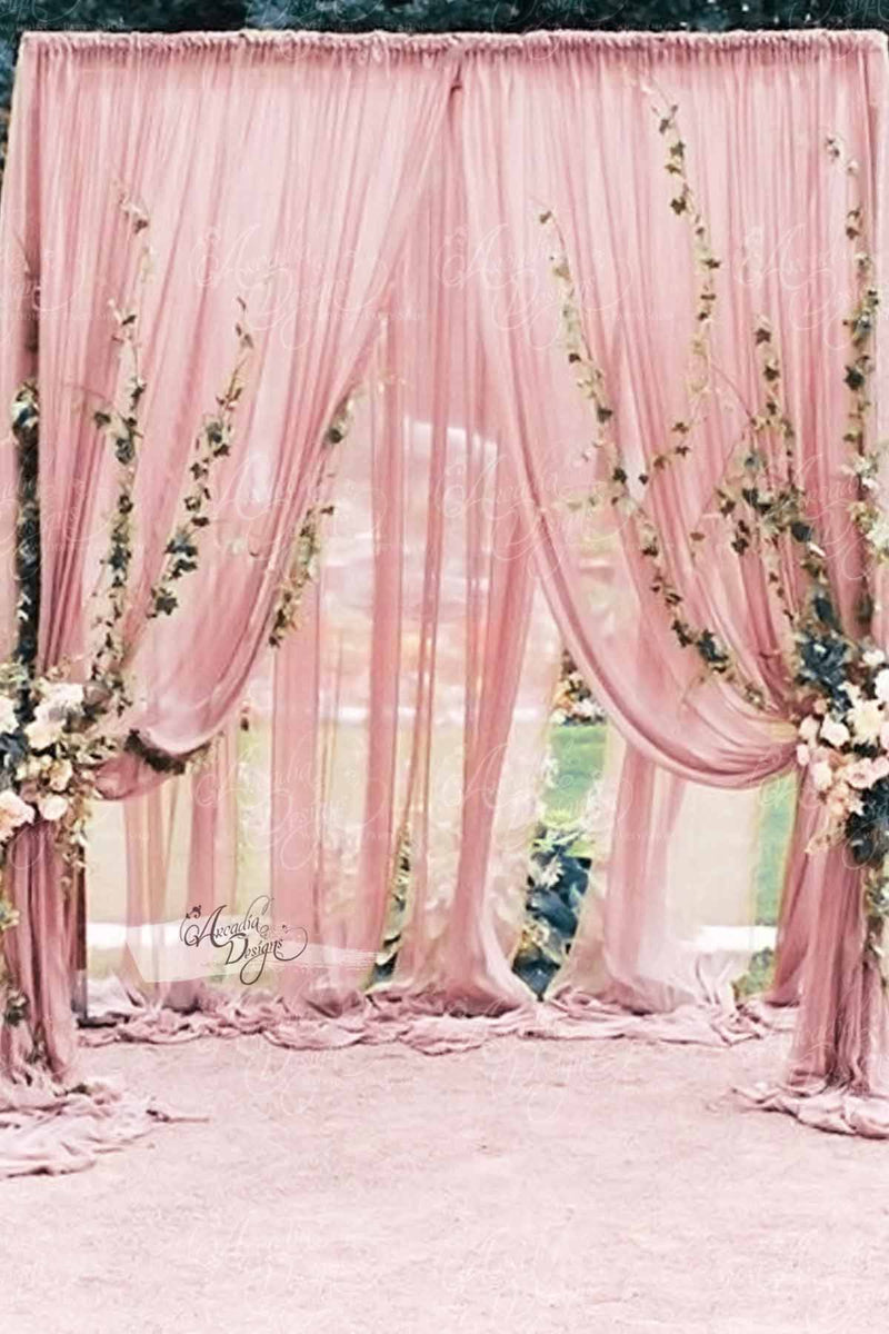 Arcadia Designs Blush Pink Sheer Wedding Drape