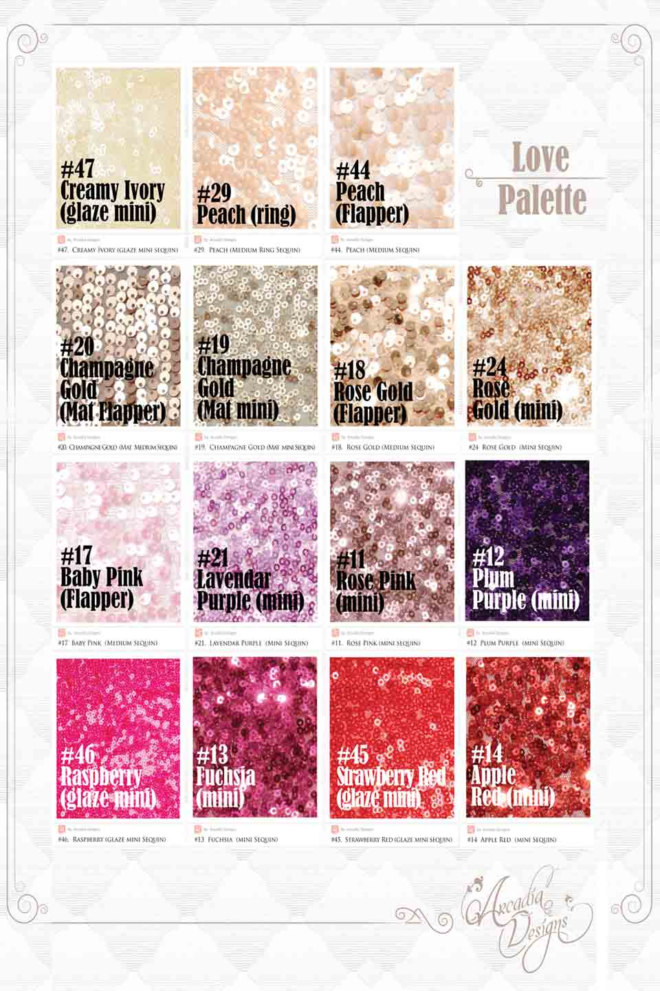 Arcadia Designs Sequin Fabric Swatch