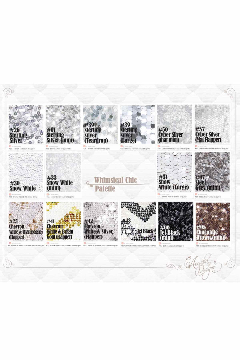Arcadia Designs Sequin Fabric Swatch Album