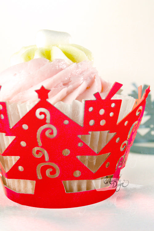 Christmas Tree Cupcake Wrappers
