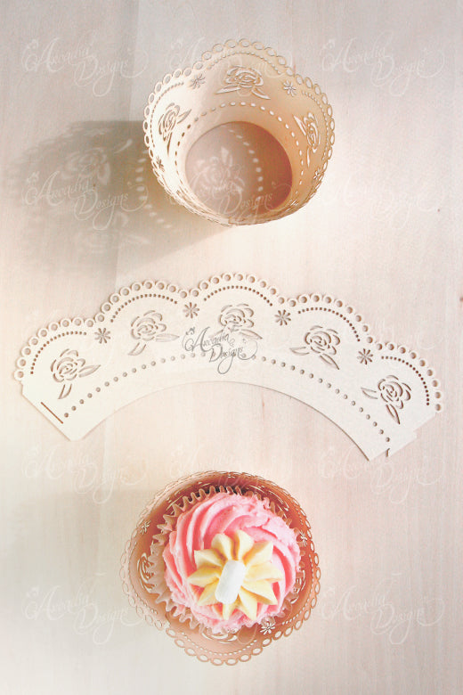 rosette cupcake wrapper party cake decoration arcadia designs