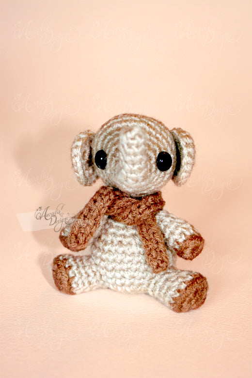 Arcadia Designs Christmas Crochet Amigurumi elephant Ornament Tree decoration