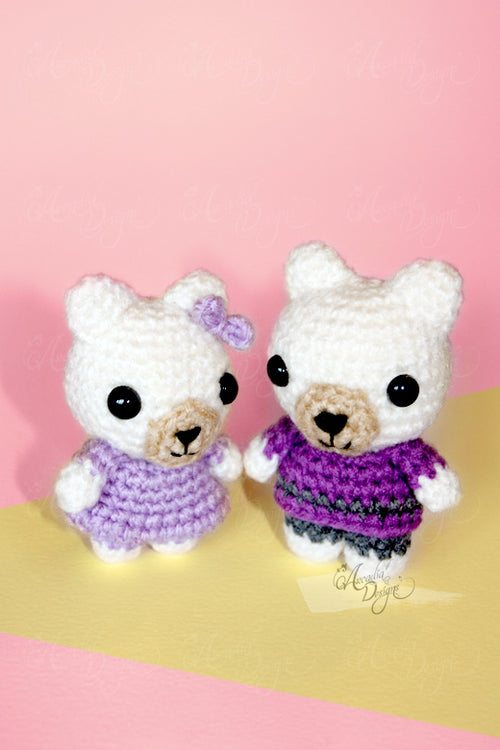 Baby Bear Crochet Ornament