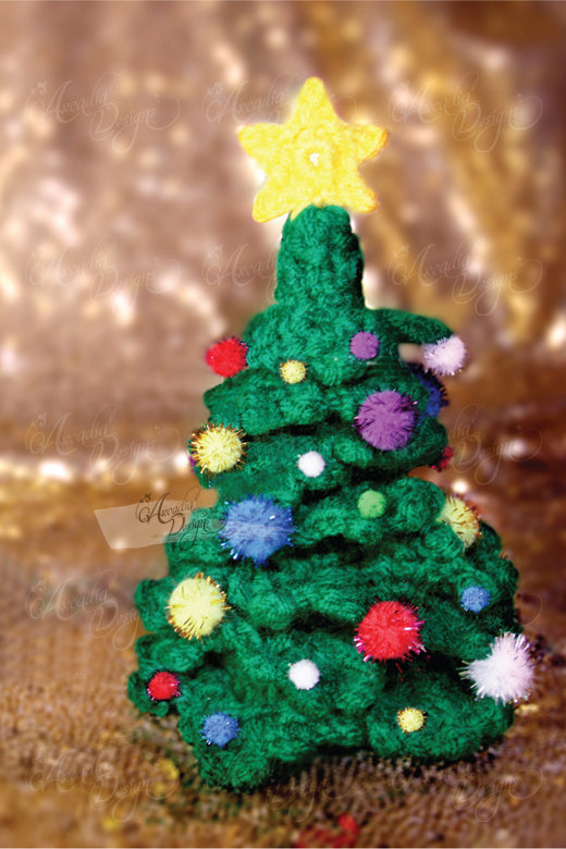 Crochet Pom Pom Tree Ornament