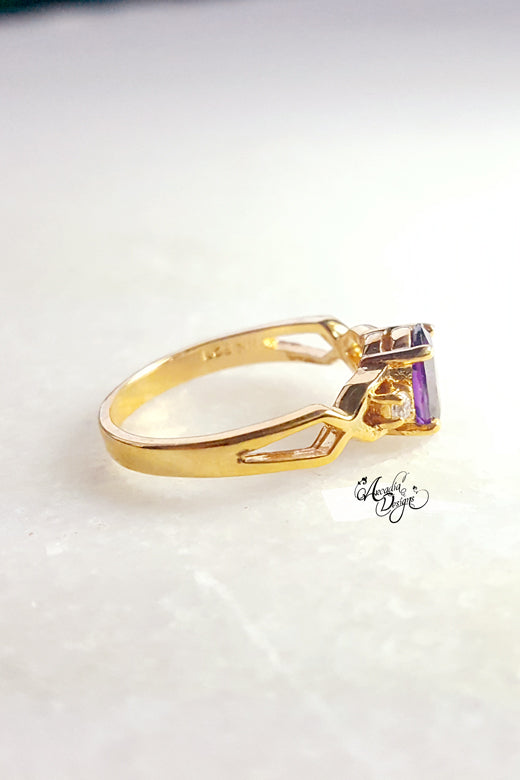 Purple Gemstone Ring
