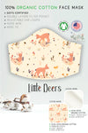 little deers beige  organic cotton filter pocket face mask for girls by arcadia designs llc