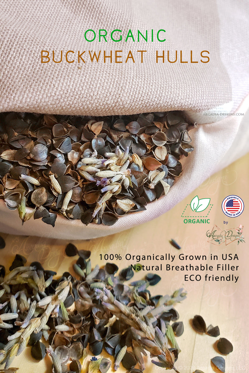 Organic Buckwheat Hulls | Natural filling for therapeutic pillow