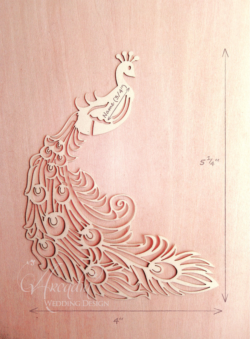 arcadia designs Peacock Laser Cut Place Card