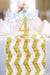 Chevron Gold & White Sequin Runner