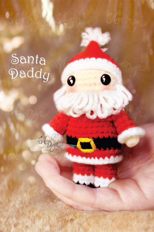 Arcadia Designs Christmas Santa Claus Crochet Amigurumi Ornament Xmas Tree decoration