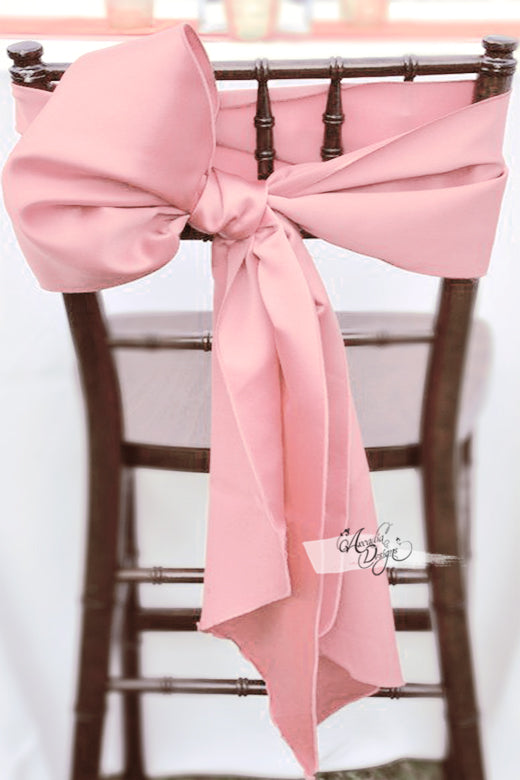 arcadia designs Blush pink Satin Chair Sash