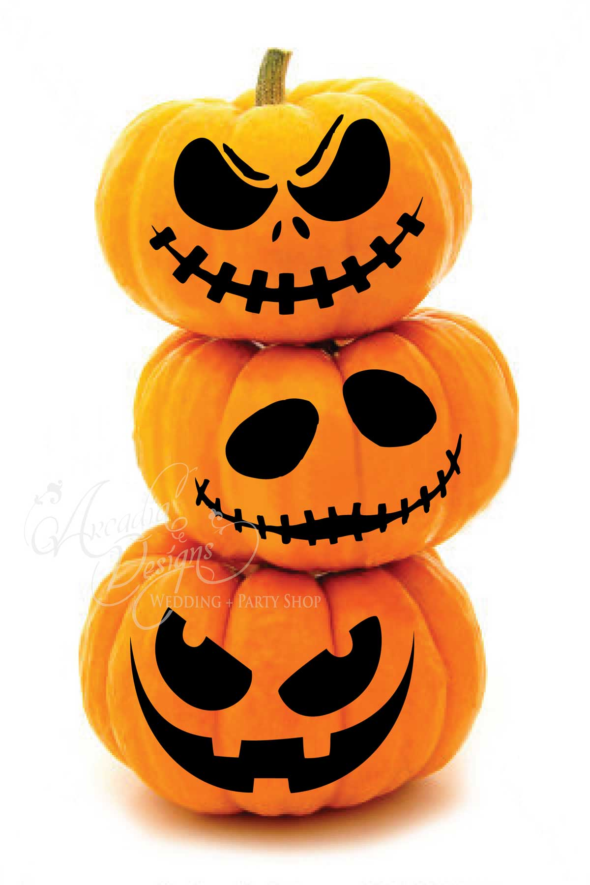 Arcadia Designs Halloween Scary Jack O Lantern Face Pumpkin Carving Pattern