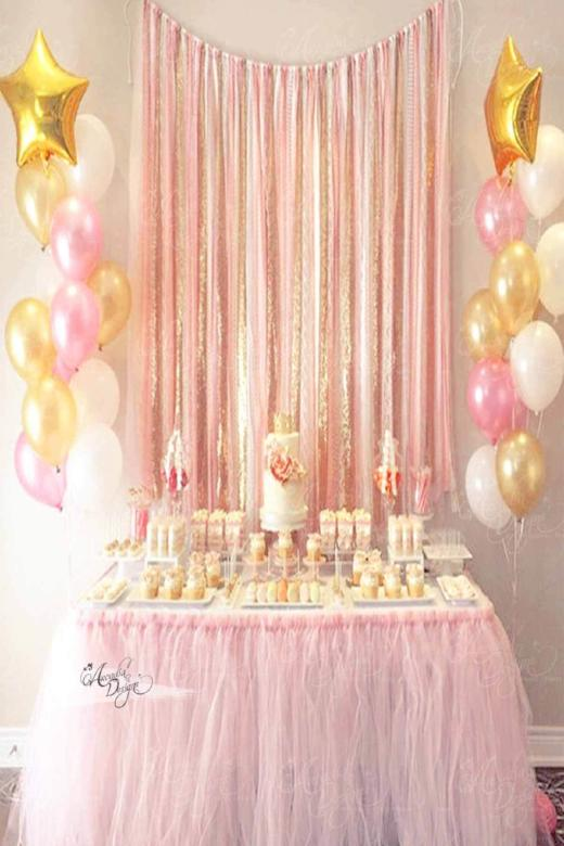 arcadia designs Baby Pink Tutu Table Skirt