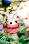 Arcadia Designs Christmas Crochet Amigurumi bunny rabbit Ornament Tree decoration