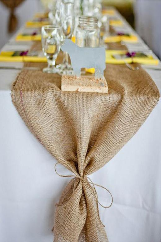 Arcadia Designs Burlap Runner for Rustic Chic Decoration