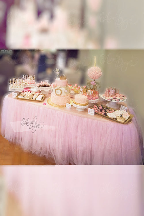 Baby Pink Tutu Table Skirt