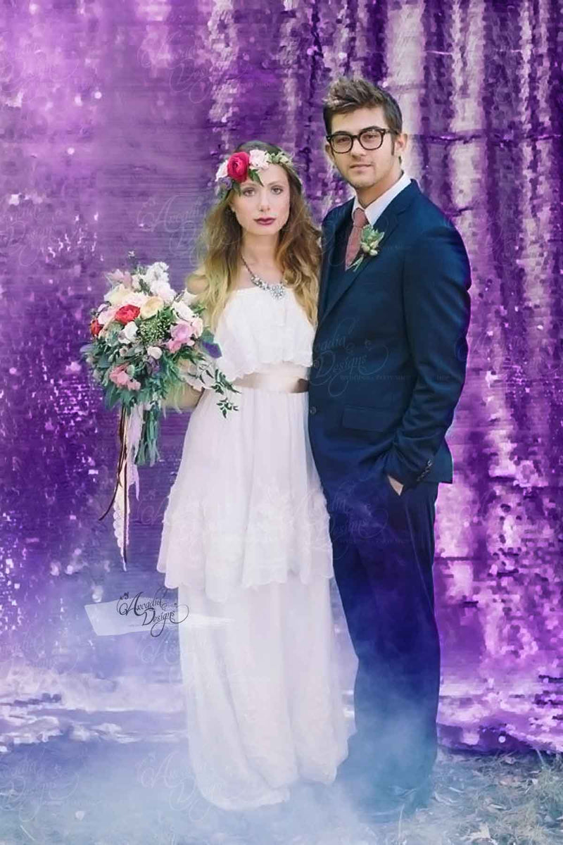 Arcadia Designs Shimmer Violet Purple Backdrop